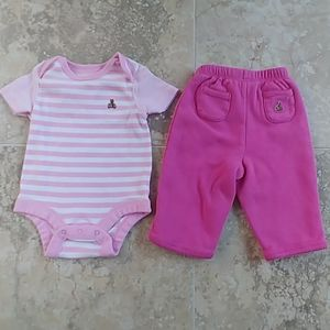 Baby Gap set 0-3 months reversible pants